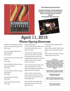 April 11 Showcase Flyer