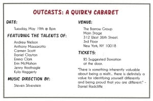 Outcasts A Quirky Cabaret